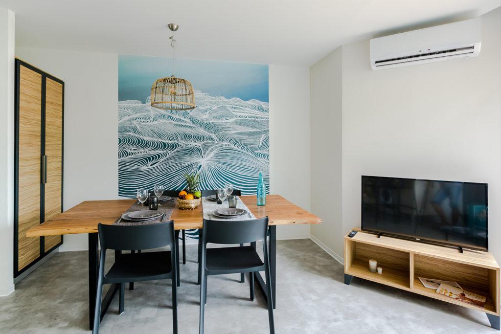 Séjour appartement T2 de la résidence de tourisme Santa Apolonia